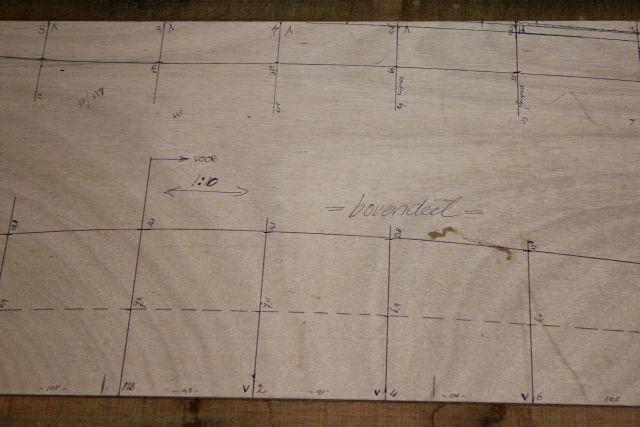 detail van de mal voor de planken