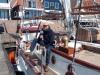 Opnames van het interview over de afsluiting van de Volendamse haven vanwege coronamaatregelen gedurende de Paasdagen